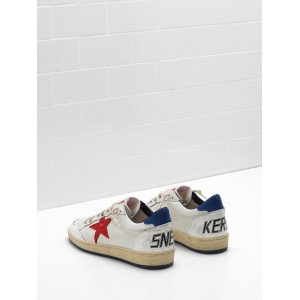 Women Golden Goose GGDB Ball Star In Calf Leather In Leather Slight Sneakers