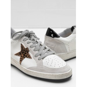 Women Golden Goose GGDB Ball Star In Calf Leather Star Heel Glossy Leather Sneakers