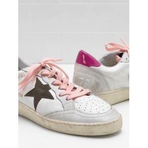 Women Golden Goose GGDB Ball Star In Calf Leather Suede Star Leather Sneakers