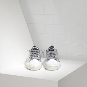 Women Golden Goose GGDB Ball Star Leather In Silver Mirror Sneakers