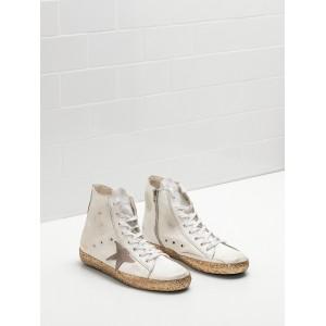 Women Golden Goose GGDB Francy Golden Leather Star In Golden Star Logo Sneakers