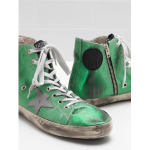 Women Golden Goose GGDB Francy Canvas Star In Laminated Leather Sneakers