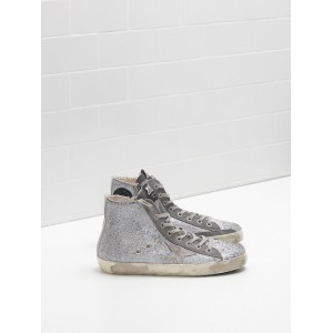 Women Golden Goose GGDB Francy In Glitter Coated Calf Leather Sneakers