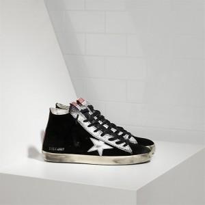 Women Golden Goose GGDB Francy Leather Star Black Suede Strawber Sneakers