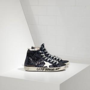 Women Golden Goose GGDB Francy Fabric Glitter Leather Star Sneakers