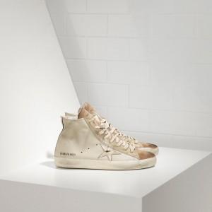 Women Golden Goose GGDB Francy In Chestnut Golden Star Logo Sneakers
