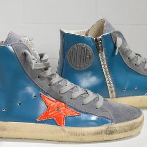 Women Golden Goose GGDB Francy Sky Red Fluo Star Sneakers