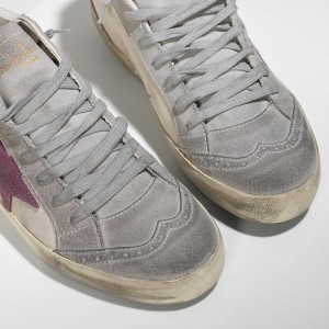 Women Golden Goose GGDB Mid Star In Camoscio White Pink Star Sneakers