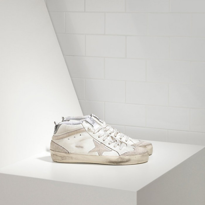 Women Golden Goose GGDB Mid Star Limited Edition Uma In Leather And Star Sneakers