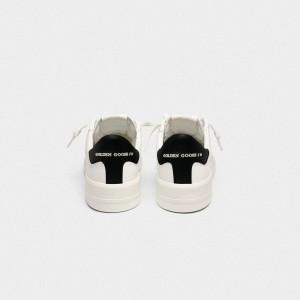Women Golden Goose GGDB Purestar With Black Sneakers