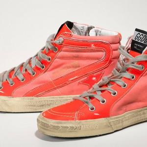 Women Golden Goose GGDB Slide Archive In Orange Sneakers