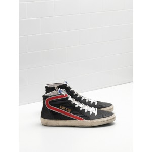 Women Golden Goose GGDB Slide In Balck Red Sneakers