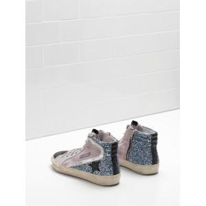 Women Golden Goose GGDB Slide In Pink Blue Black Sneakers