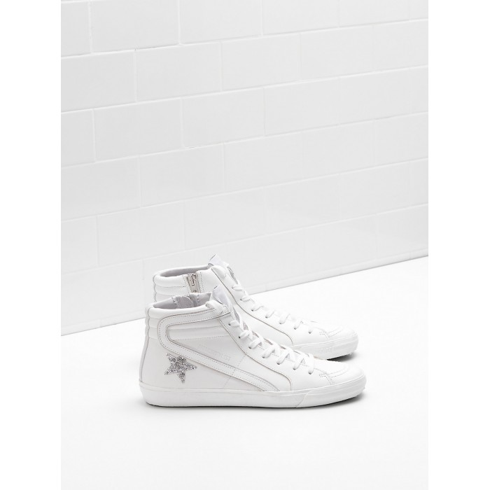 Women Golden Goose GGDB Slide Limited Edition With Swarovski Crystal Sneakers