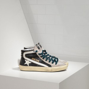 Women Golden Goose GGDB Slide In Pelle Black White Sneakers
