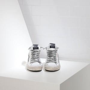 Women Golden Goose GGDB Slide In Pelle White Leather Studs Sneakers