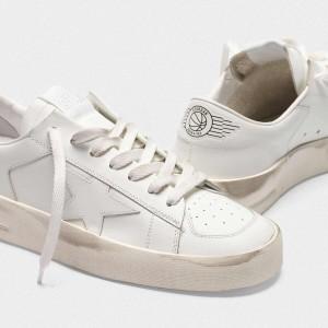 Women Golden Goose GGDB Stardan In Total White Leather Sneakers