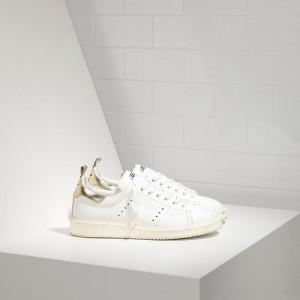 Women Golden Goose GGDB Starter In White Gold Sneakers