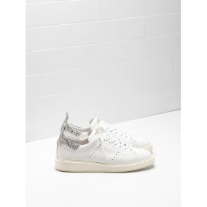 Women Golden Goose GGDB Starter Upper In Natural Calf Leather Color Sneakers