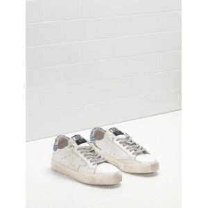 Women Golden Goose GGDB May In Blue White Star Logo Sneakers
