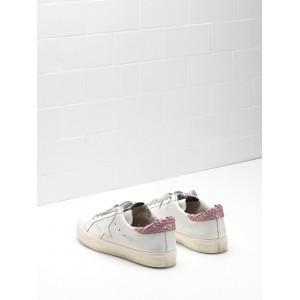 Women Golden Goose GGDB May In Pink White Star Logo Sneakers