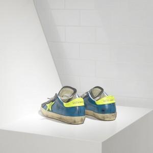 Women Golden Goose GGDB Superstar In Fluo Sky Yellow Fluo Star Sneakers