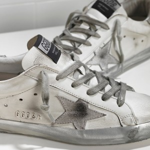 Women Golden Goose GGDB Superstar In Sparkle White Silver Sneakers