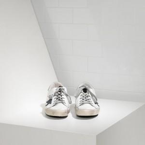 Women Golden Goose GGDB Superstar In White Petroleum Star Sneakers