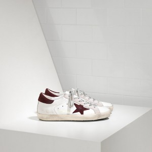 Women Golden Goose GGDB Superstar In White Purple Suede Sneakers