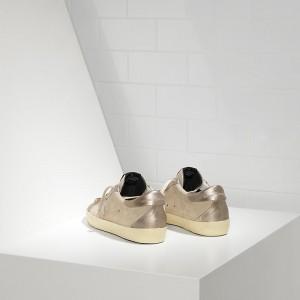Women Golden Goose GGDB Superstar Leather In Beige Gold Star Sneakers