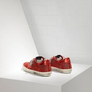 Women Golden Goose GGDB Superstar Leather In Laminata Red Mirror Sneakers