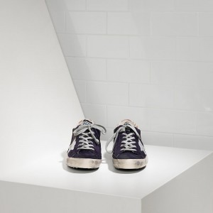 Women Golden Goose GGDB Superstar Leather Purple Suede Sneakers