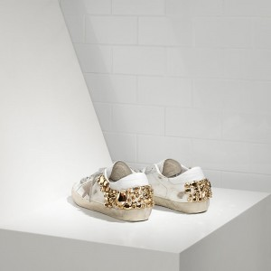 Women Golden Goose GGDB Superstar Limited Edition In Gold Diamond Sneakers