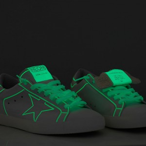 Women Golden Goose GGDB Superstar Neon Fluorescente Neon Sneakers