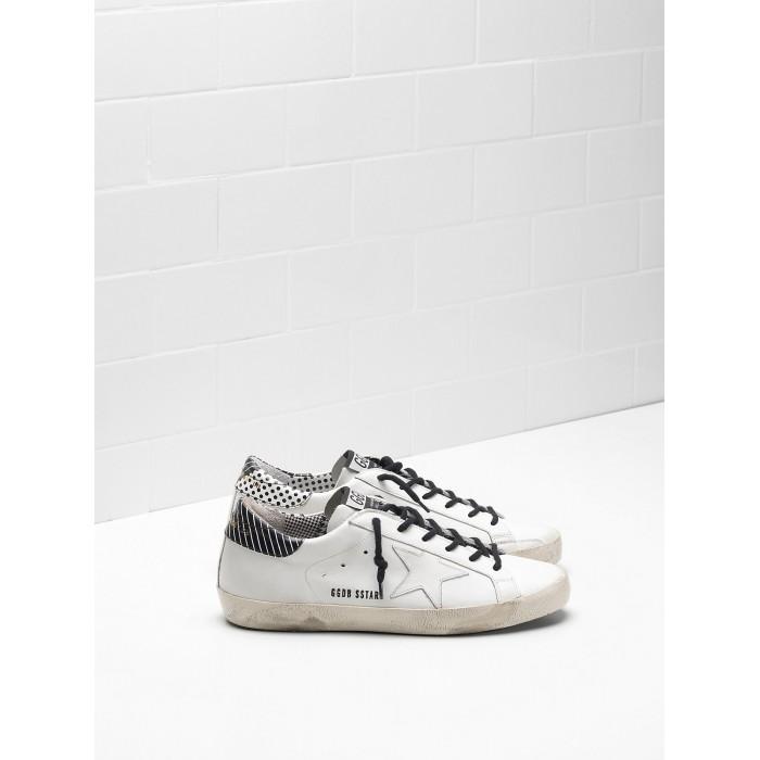 Women Golden Goose GGDB Superstar Calf Leather Stripe Spots Sneakers