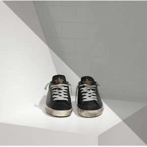 Women Golden Goose GGDB Superstar In Leather With Openwork Star Black Sneakers