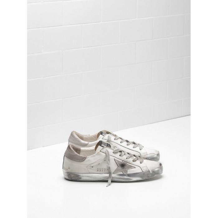 Women Golden Goose GGDB Superstar In White Gray Star Logo Sneakers