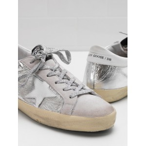Women Golden Goose GGDB Superstar Laminated Fabric Wrinkled Effect Sneakers