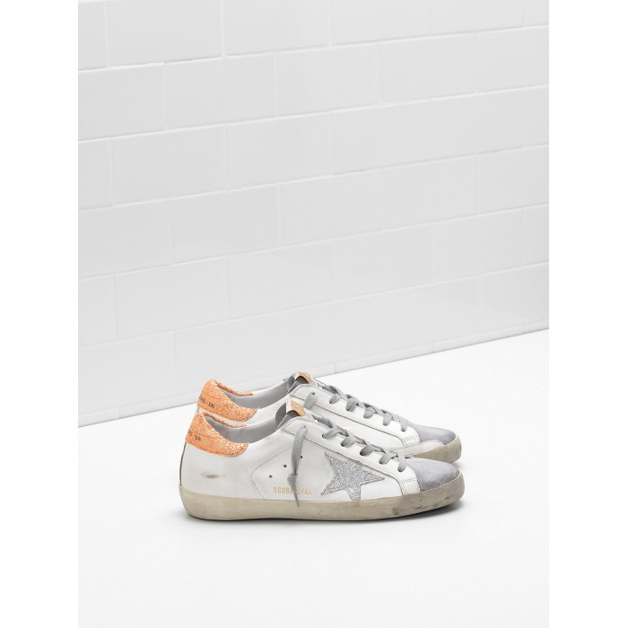 Women Golden Goose GGDB Superstar Leather Glitter Coated Star Coated Sneakers