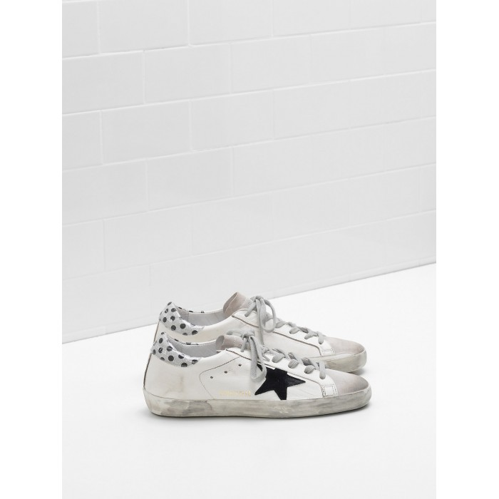 Women Golden Goose GGDB Superstar Leather Star In Glitter Black Logo Sneakers