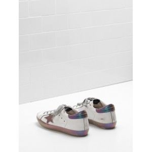 Women Golden Goose GGDB Superstar Leather Star In Iridescent Rainbow Sneakers