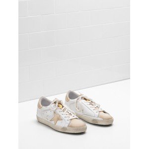 Women Golden Goose GGDB Superstar Leather Star In Leather Khaki Sneakers