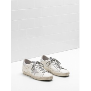 Women Golden Goose GGDB Superstar Leather Star With Glitter Sneakers
