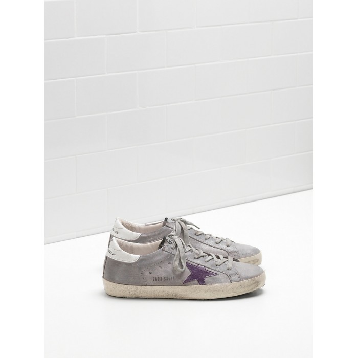 Women Golden Goose GGDB Superstar Leather Suede Lightly Coated In Glitter Sneakers
