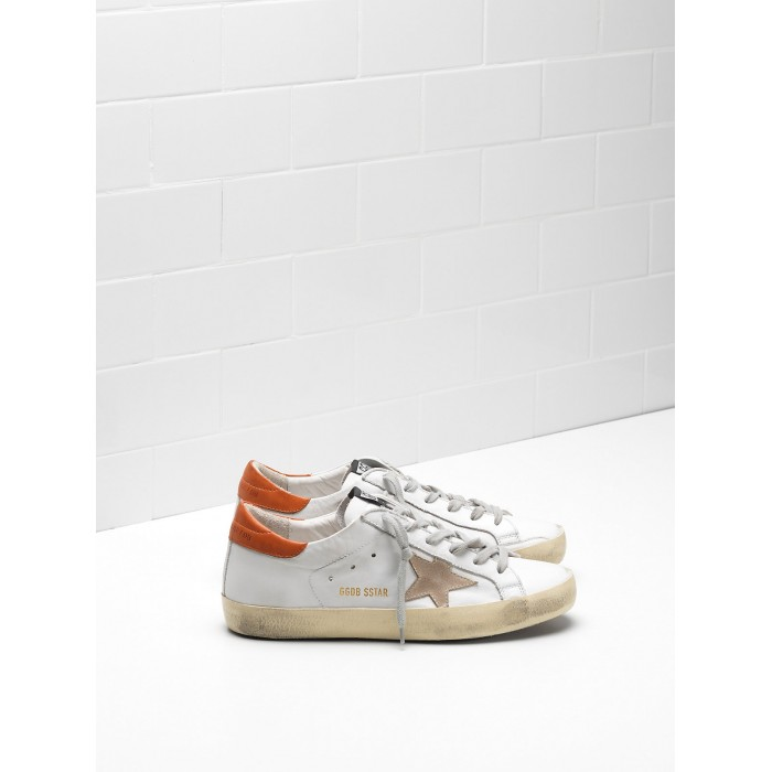 Women Golden Goose GGDB Superstar Leather Suede Star Leather Chestnut Star Sneakers