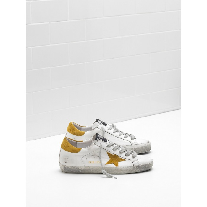 Women Golden Goose GGDB Superstar Leather Suede Yellow Star Sneakers