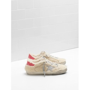 Women Golden Goose GGDB Superstar Shearling Suede Star Leather Sneakers