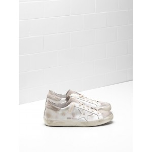 Women Golden Goose GGDB Superstar Skin Leather Coated In Silk Sneakers