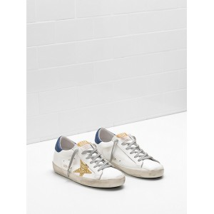 Women Golden Goose GGDB Superstar Upper In Calf Leather Glitter Coated Star Leather Sneakers