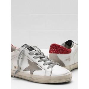 Women Golden Goose GGDB Superstar Upper In Calf Leather Star Glitter Coated Sneakers